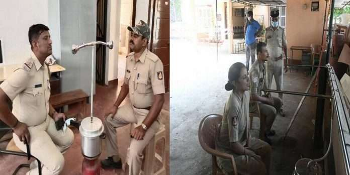 use of pressure cookers for steam therapy, a great idea Banglore police