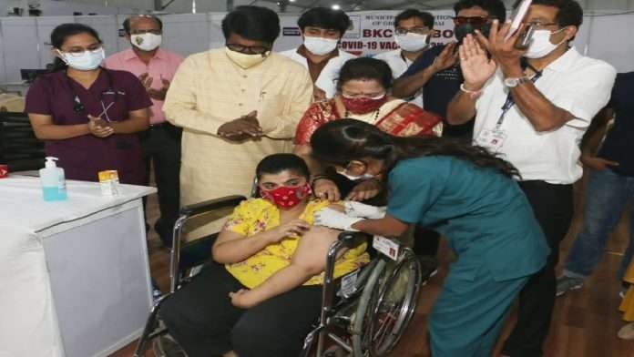 Corona Vaccination: The first Divyang woman to be vaccinated between the ages of 18 and 44