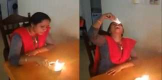 Video: Babo! women Eating Fire balls to escape from the corona, Video viral on social Media