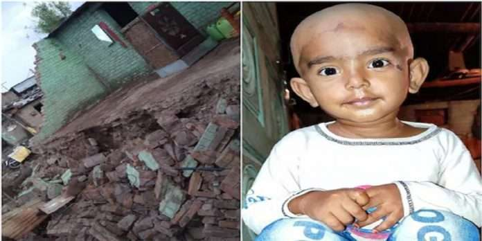 3 year old girl dies after house wall collapses due to Heavy rain in buldhana