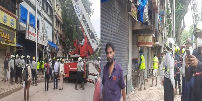 Ashapura building in Mumbai Fort area slab collapsed, 40 people were rescued safely