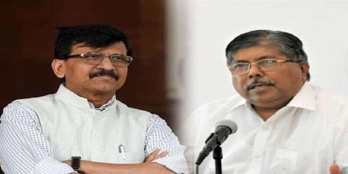 Chandrakant Patil and Sanjay Raut