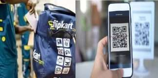 Facility of QR payment along with cash on delivery on Flipkart