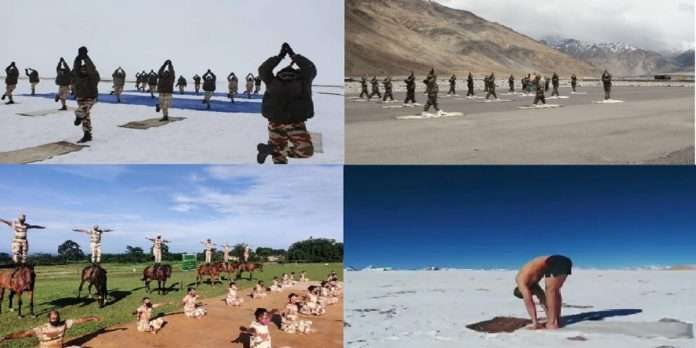 Yoga Day 2021: ITBP soldiers perform Yoga from an altitude of 18,000 feet