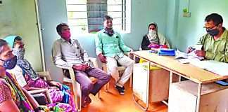 Female sarpanch attended monthly meeting with the nine-day-old baby