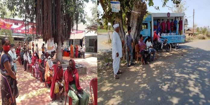 Vaccination: In three villages of Nandubar tribal area, 100 per cent vaccination of citizens above 45 years has been completed