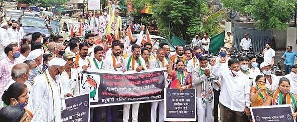 NCP's bullock cart march against fuel price hike