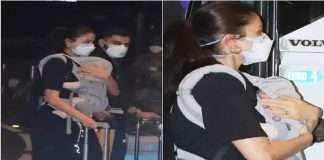 Paparazzi captured Virushka ans daughter Vamika on camera at airport