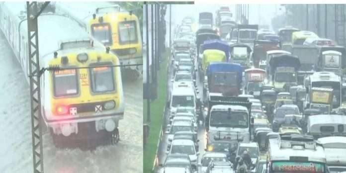 Heavy rainfall in mumbai and other parts of state in maharashtra