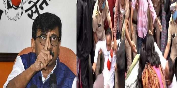 Shivsena mp sanjay raut warns bjp over shivsena bjp workers clash over ram mandir land scam