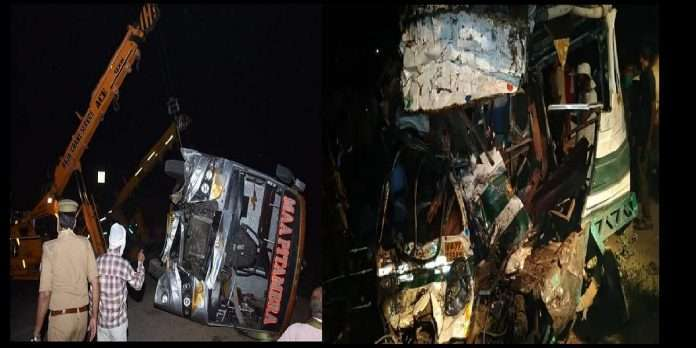 Accident in Kanpur 15 killed and more than 22 injured as bus collides with loader near kanpur