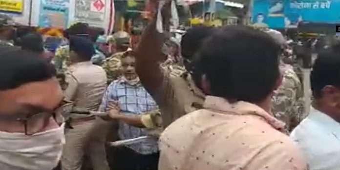 shivsena 55th foundation day a scuffle broke out between shivsena and bjp vaibhav naik activist Fuel price increase in kudal sindhudurga