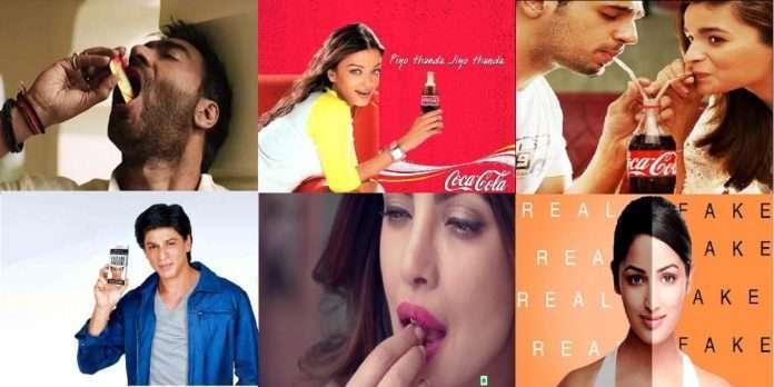 Indian stars earn crores of rupees on health hazardous advertisements