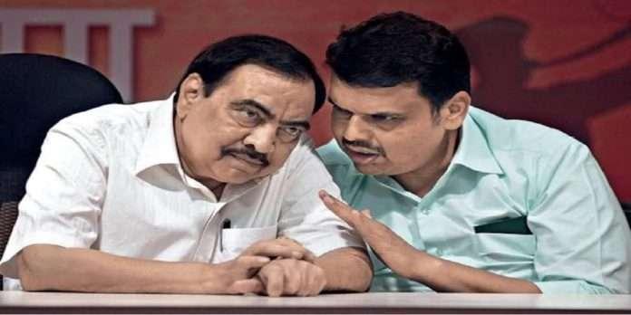 NCP leader Eknath khadse called LOP devendra fadnvis goes viral