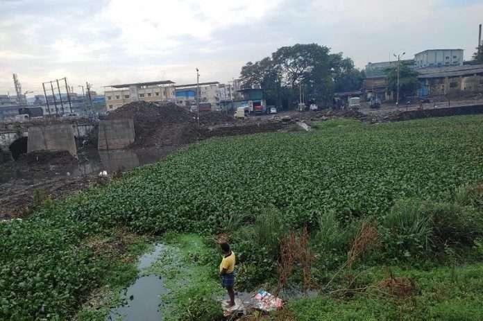 Kamwari river in Bhiwandi