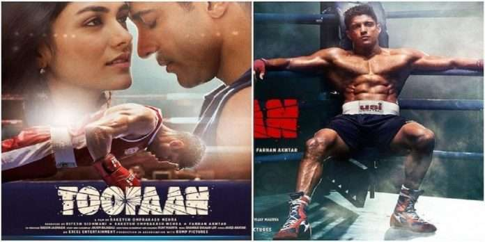 The inspiring title track of the movie 'Toofan' was well received by the audience