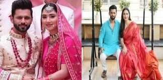 rahul vaidya and disha parmar showerd with blessing from kinnars