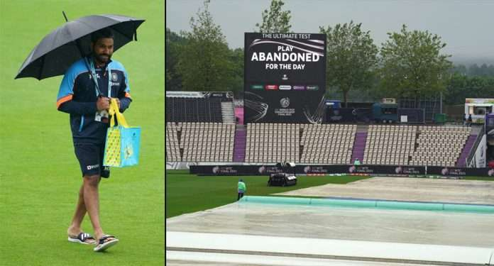 rohit sharma and wtc final play abandoned due to rain