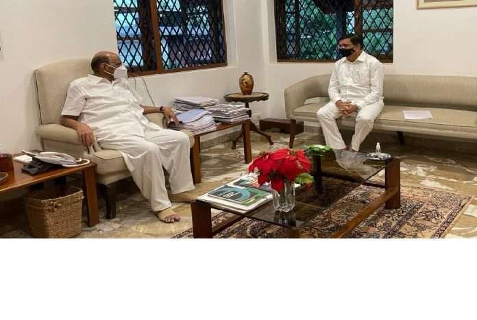 Congress leader balasaheb thorat meets nsp president sharad pawar
