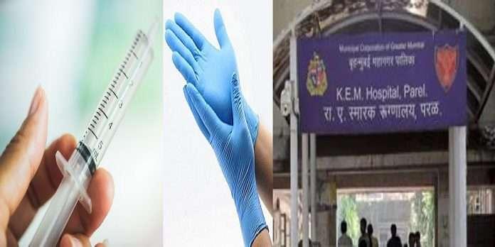 shortage of syringes and Gloves in KEM