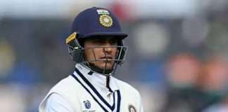 shubman gill may miss england test series