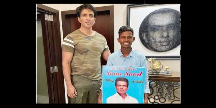 /sonu soods fan came to meet him barefoot from hyderabad to mumbai