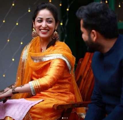Photo: Actress Yami Gautam got marriage with director Aditya Dhar