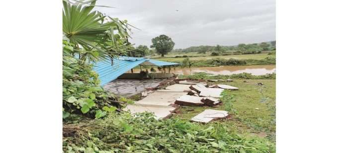Many houses were destroyed after the floods in Karjat