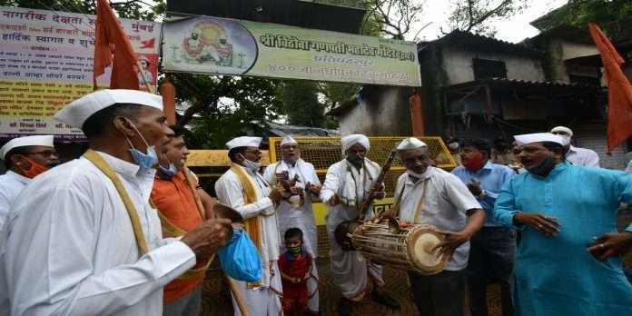 ashadi ekadashi 2021 puja at prati pandharpur wadala vitthal mandir mumbai