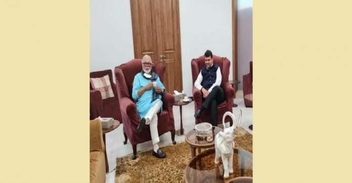 Chagan Bhujbhal devendra Fadnavis meeting