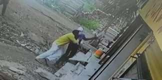 Firing on youth in beed the incident was captured on CCTV