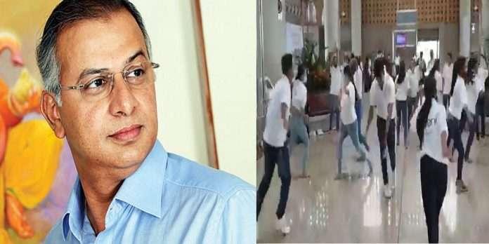 MNS leader Nitin Sardesai warned those playing Garba at Mumbai airport