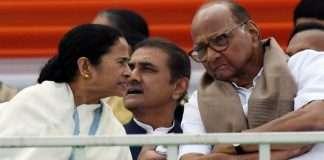 NCP President Sharad Pawar and TMC President Mamata Banerjee