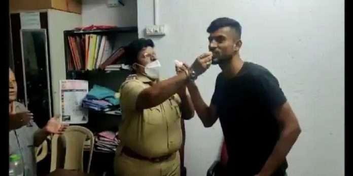 mumbai news jogeshwari senior police inspector mahendra nerlekar celebrated criminals birthday