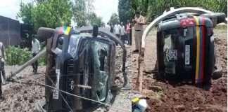 Minister of State Vishwajeet Kadam's convoy vehicle crash, police injured