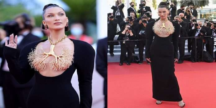 Cannes 2021: All photographers are shocked to see model Bella Hadid's necklace on the red carpet