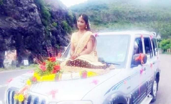 Video shooting of bride sitting on the bonnet of the car case filed by the police