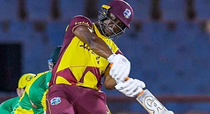 evin lewis scores fifty as west indies beat australia