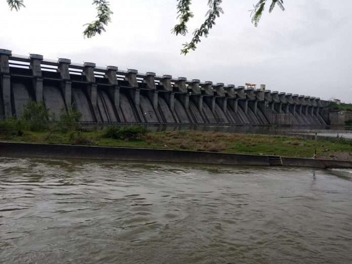 the dams is half full after heavy rainfall in the state