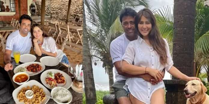 actress Kim Sharma is dating Tennis player Leander Paes , romantic photo from Goa goes viral