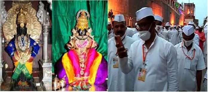 crowd of Warakaris Gathered at Vitthal mandir pandharpur, violates the Corona rules
