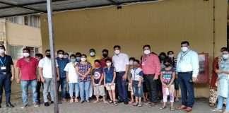 The children of Panchsheel Kindergarten in Panvel were freed from corona