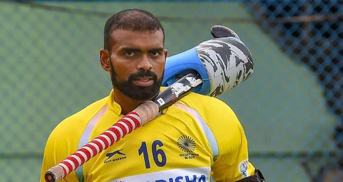 Indian hockey team's goalkeeper PR Sreejesh