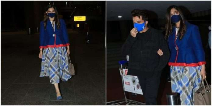sonam kapoor crying at airport after meet her father