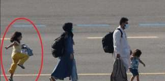 Afghan girl skips and hops on way to new life in Belgium after evacuation
