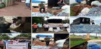 Plastic collection campaign in flooded villages