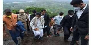 governor bhagat singh koshyari visit on sinhagad fort