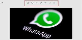 Editing option before sending photo to Whats App users