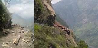 Himachal Landslide in Himachal Pradesh Kinnaur district bus crashed Fear of 40 people buried under the pile