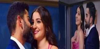 Virat kohli and Anushka sharma romantic dance to the song 'Yeh Chand Sa Roshan Chehra'
